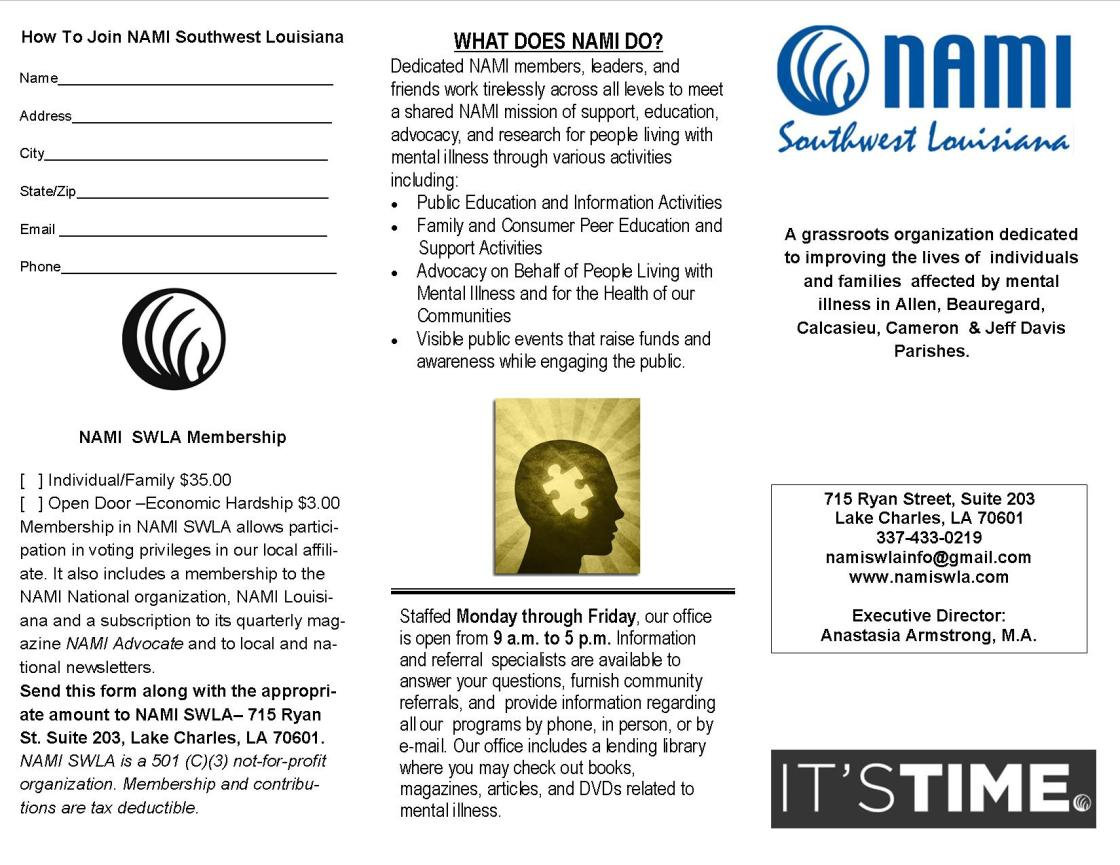NAMI SWLA Brochure Front JPG